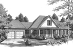 Country House Plan Front of Home - 076D-0099 | House Plans and More