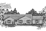 Ranch House Plan Front of Home - 076D-0100 | House Plans and More