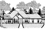 Traditional House Plan Front of Home - 076D-0101 | House Plans and More