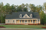 Traditional House Plan Front of Home - 076D-0103 | House Plans and More