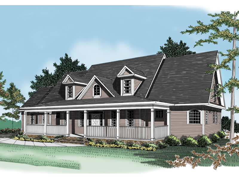 Traditional House Plan Front Photo 01 - 076D-0103 | House Plans and More