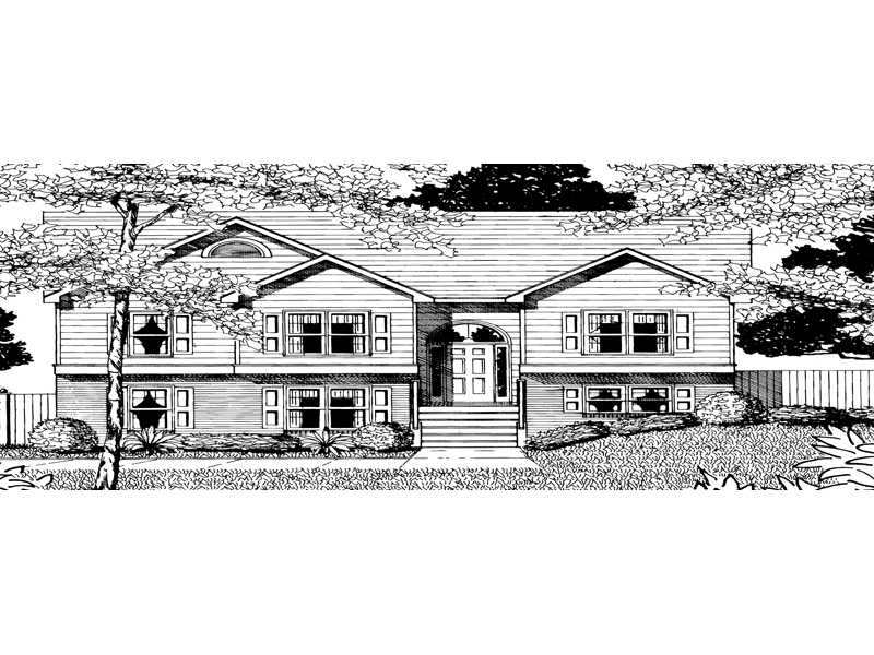 Traditional House Plan Front of Home - 076D-0104 | House Plans and More