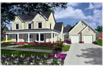 Country House Plan Front of Home - 076D-0105 | House Plans and More