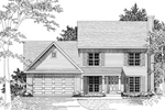 Traditional House Plan Front of Home - 076D-0106 | House Plans and More