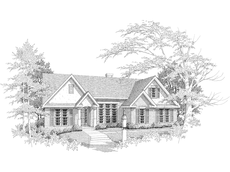 Traditional House Plan Front of Home - 076D-0107 | House Plans and More