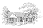 Ranch House Plan Front of Home - 076D-0107 | House Plans and More