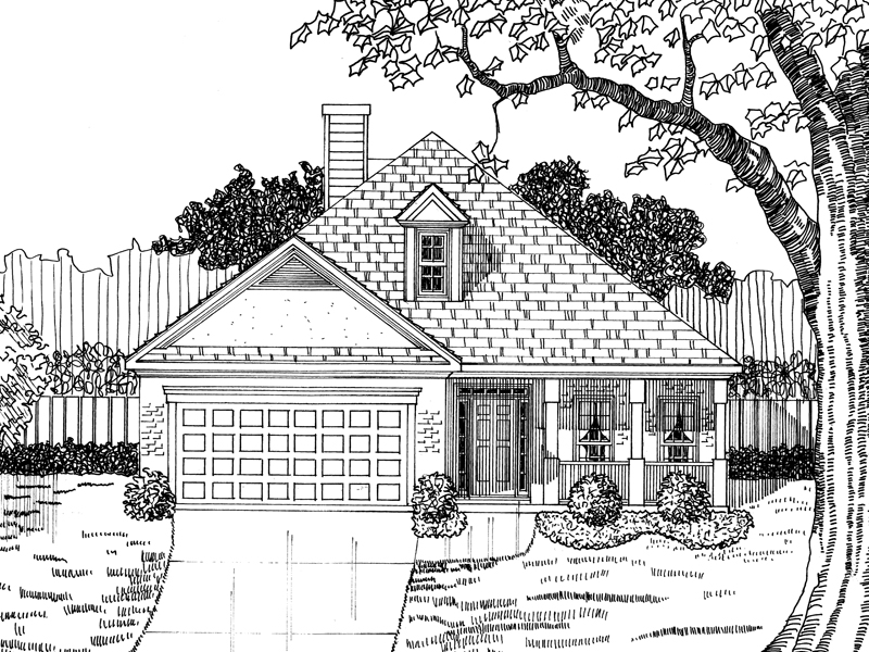 Traditional House Plan Front of Home - 076D-0108 | House Plans and More