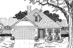 Ranch House Plan Front of Home - 076D-0108 | House Plans and More