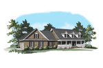 Traditional House Plan Front of Home - 076D-0109 | House Plans and More