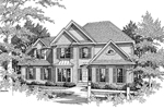 Traditional House Plan Front of Home - 076D-0110 | House Plans and More