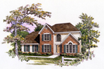 Traditional House Plan Front of Home - 076D-0111 | House Plans and More