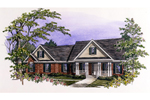 Ranch House Plan Front of Home - 076D-0112 | House Plans and More