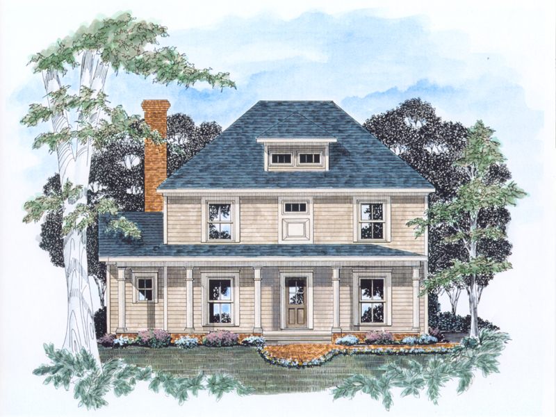 Traditional House Plan Front of Home - 076D-0115 | House Plans and More