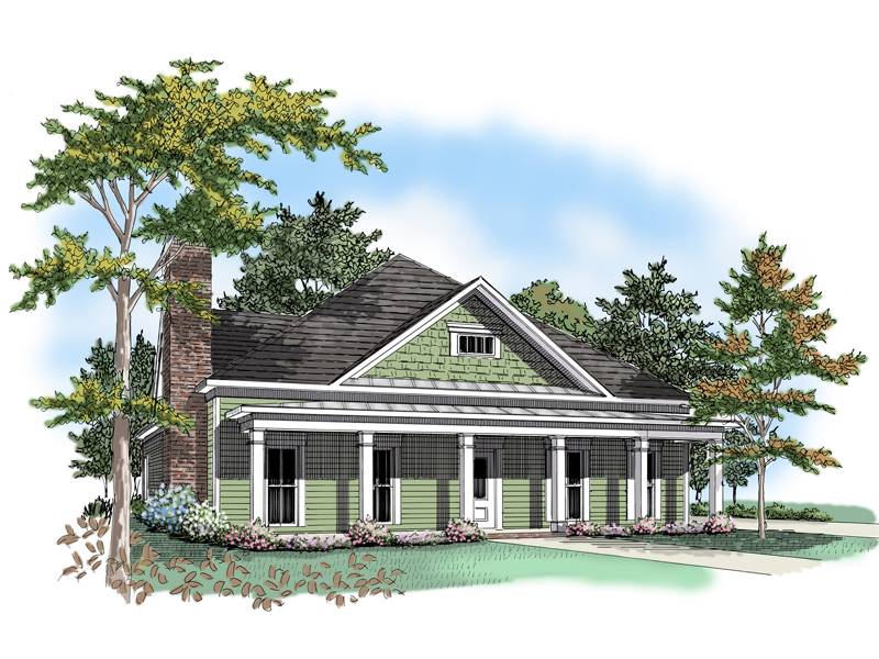Traditional House Plan Front of Home - 076D-0118 | House Plans and More