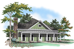 Neoclassical Home Plan Front of Home - 076D-0118 | House Plans and More