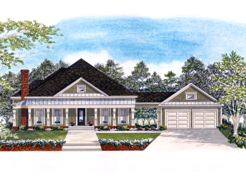 Country House Plan Front of Home - 076D-0119 | House Plans and More