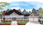 Ranch House Plan Front of Home - 076D-0119 | House Plans and More