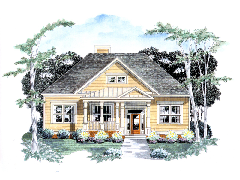 Traditional House Plan Front of Home - 076D-0121 | House Plans and More