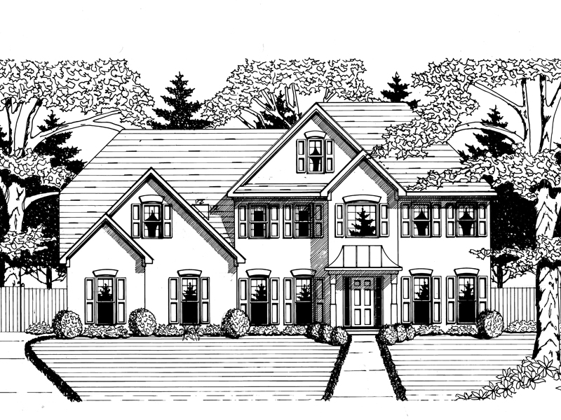 Traditional House Plan Front of Home - 076D-0122 | House Plans and More