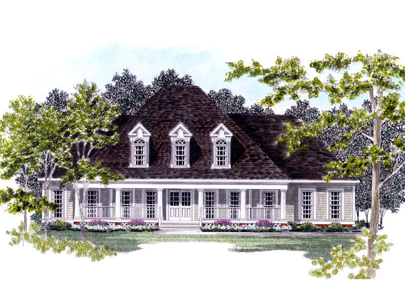 Traditional House Plan Front of Home - 076D-0125 | House Plans and More