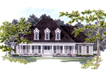 Country House Plan Front of Home - 076D-0125 | House Plans and More