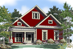 Craftsman House Plan Front of Home - 076D-0126 | House Plans and More