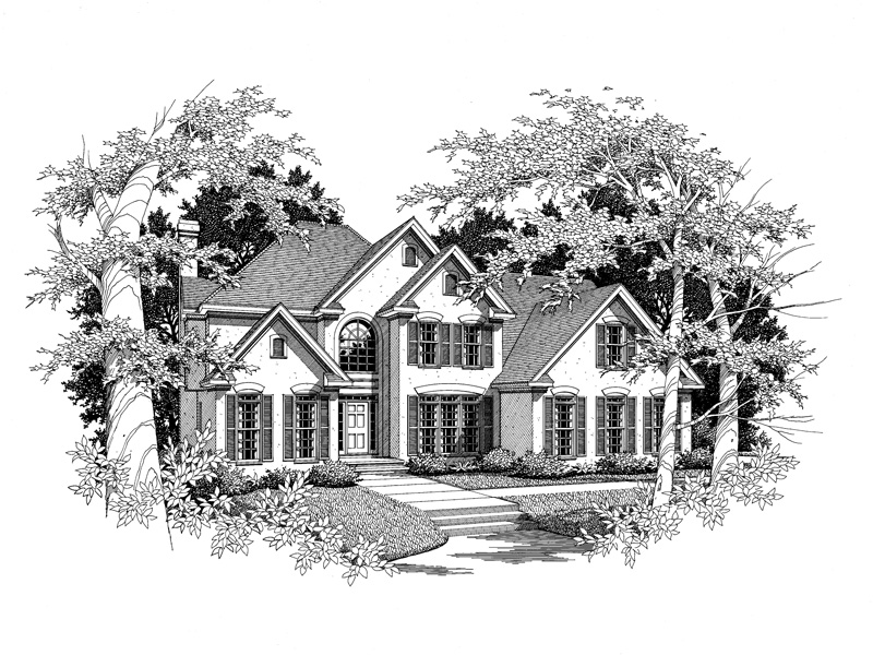 European House Plan Front of Home - 076D-0127 | House Plans and More