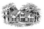 Luxury House Plan Front of Home - 076D-0127 | House Plans and More