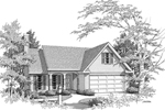 Ranch House Plan Front of Home - 076D-0129 | House Plans and More