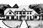 Luxury House Plan Front of Home - 076D-0130 | House Plans and More