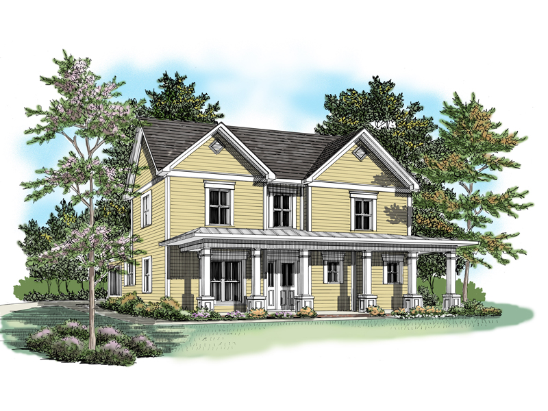 Traditional House Plan Front of Home - 076D-0131 | House Plans and More