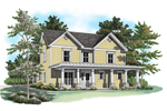 Country House Plan Front of Home - 076D-0131 | House Plans and More