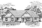 Ranch House Plan Front of Home - 076D-0132 | House Plans and More