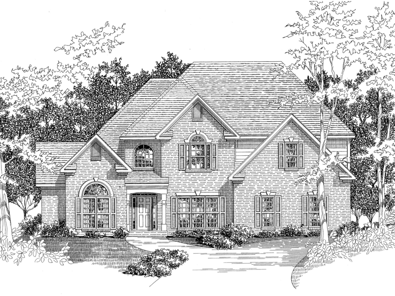 Traditional House Plan Front of Home - 076D-0137 | House Plans and More