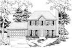 Traditional House Plan Front of Home - 076D-0138 | House Plans and More