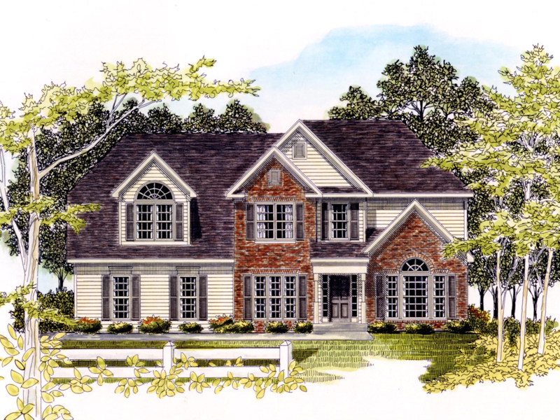 Traditional House Plan Front of Home - 076D-0145 | House Plans and More
