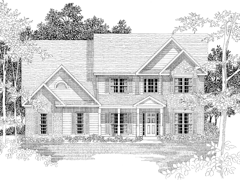 Two-Story Home Has Traditional Style