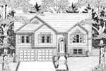 Attractive Split-Level Home Design