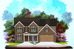 Traditional Brick Two-Story Features Bold Columns