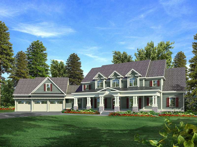 Luxury House Plan Front Image 076D-0204