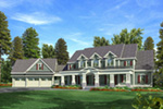 Luxury House Plan Front Image - 076D-0204 | House Plans and More