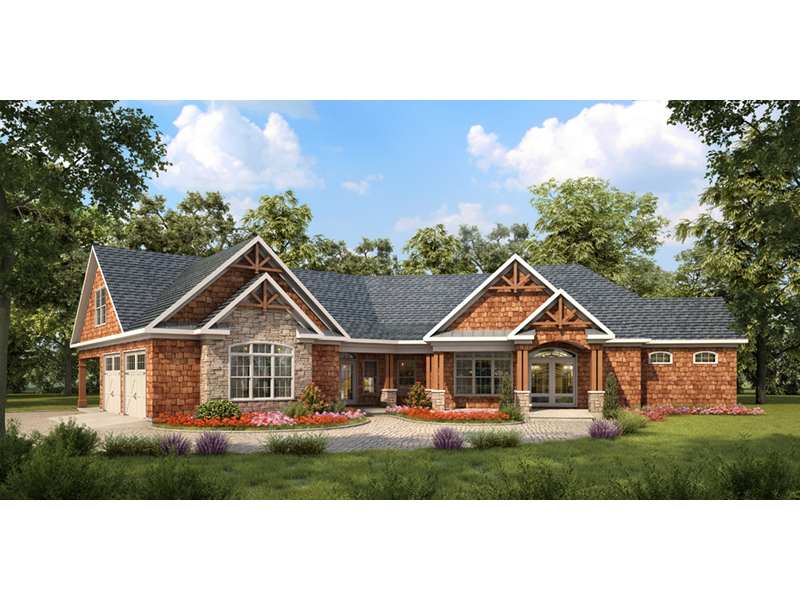 Bradley Creek Rustic Home Plan 076D-0210 | House Plans and More