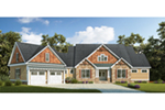 Craftsman House Plan Front of Home - 076D-0217 | House Plans and More