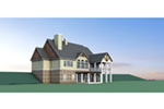 Craftsman House Plan Rear Photo 01 - 076D-0217 | House Plans and More