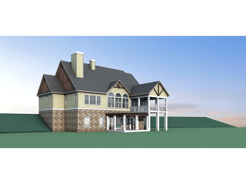 Craftsman House Plan Rear Photo 02 - 076D-0217 | House Plans and More