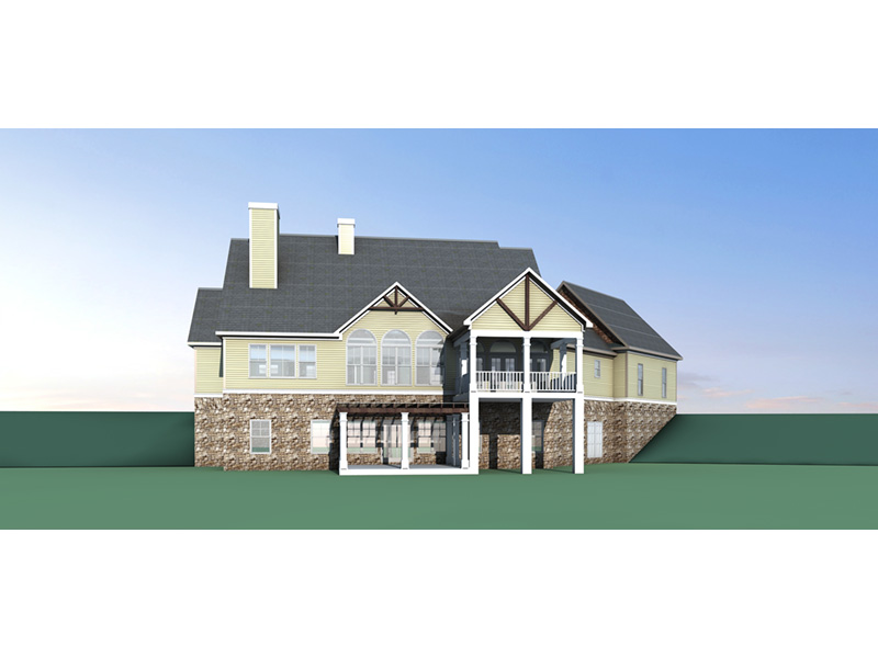 Craftsman House Plan Rear Photo 03 - 076D-0217 | House Plans and More