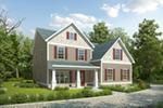 Traditional House Plan Front of Home - 076D-0228 | House Plans and More