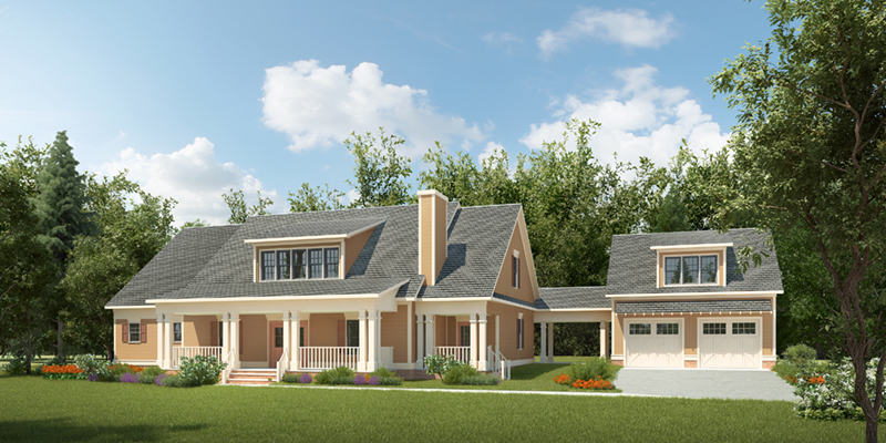 Craftsman House Plan Front of Home - 076D-0244   House Plans and More