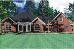 Ranch House Plan Front Image - 077D-0002 | House Plans and More
