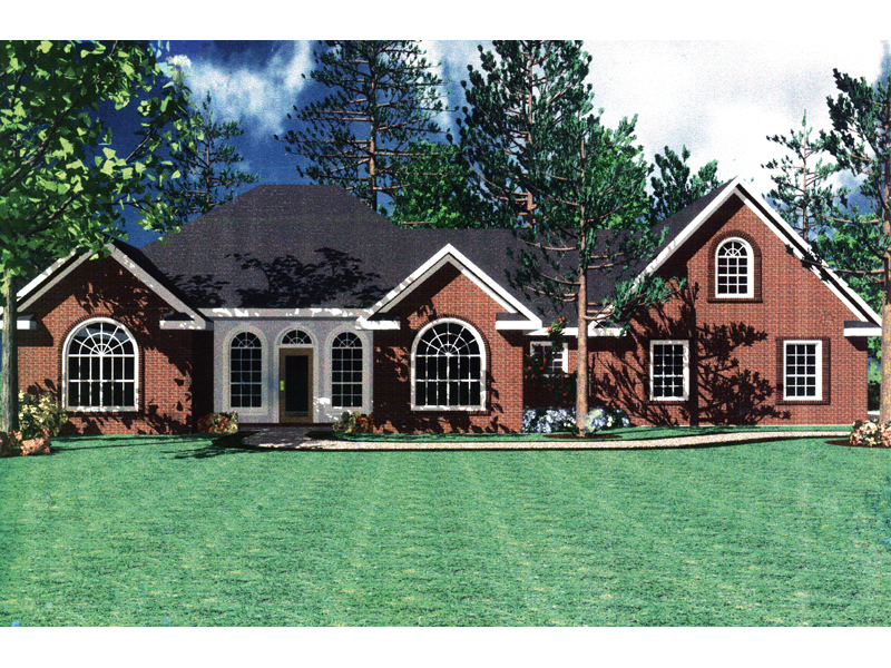 Traditional Ranch Home Has Several Arched Windows